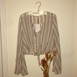 Boho Style Tie Front Top